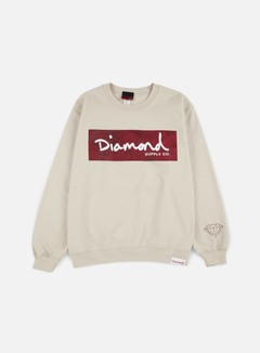 Diamond Supply - Radiant Box Logo Crewneck, Cream 1