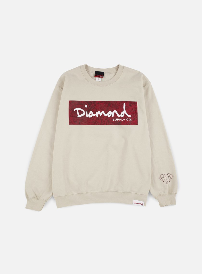 Diamond Supply - Radiant Box Logo Crewneck, Cream