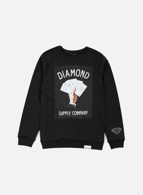 felpe diamond supply royal flush crewneck black