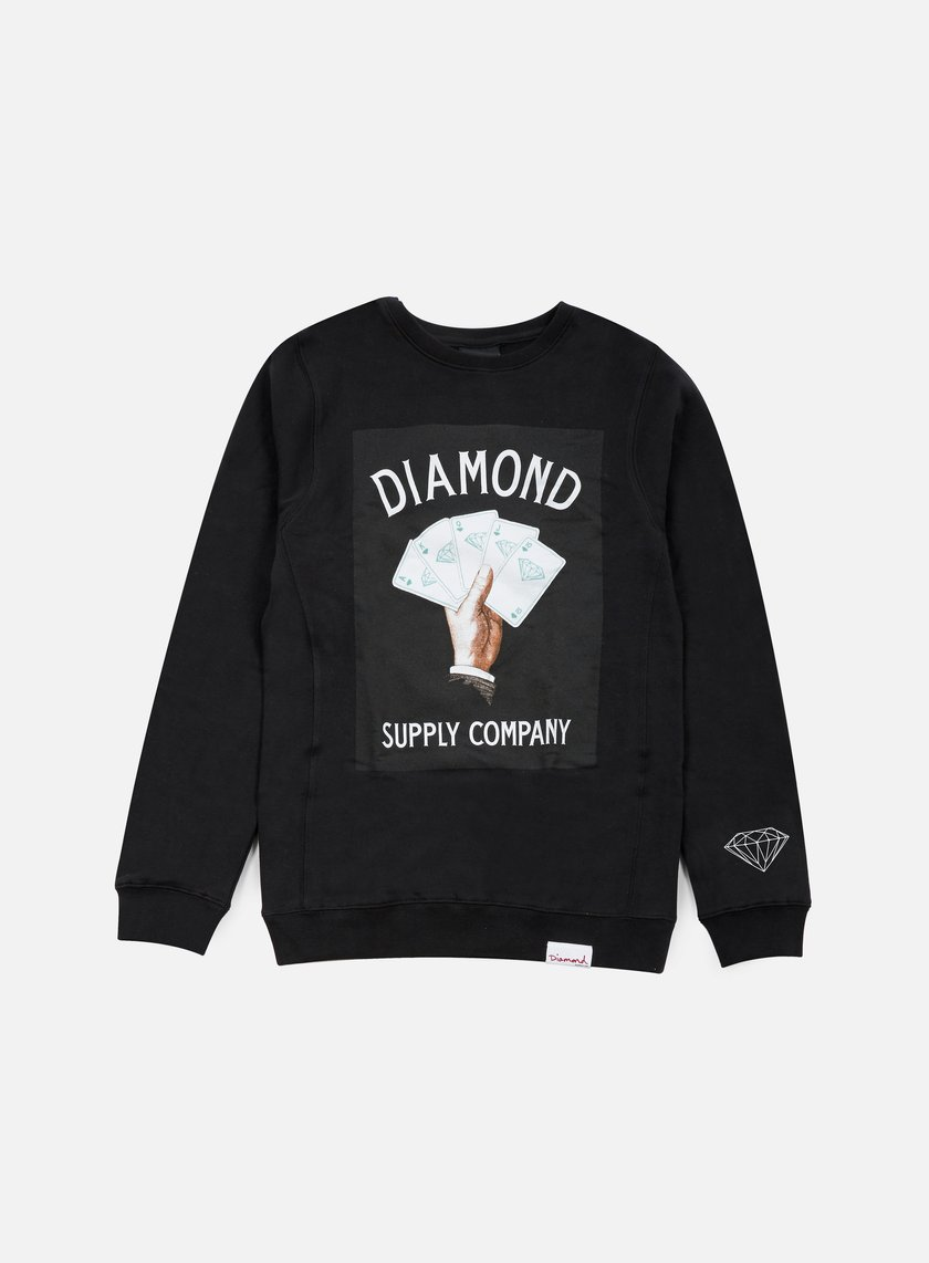 Diamond Supply - Royal Flush Crewneck, Black