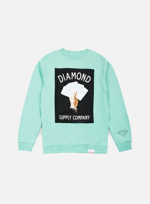 felpe diamond supply royal flush crewneck diamond blue
