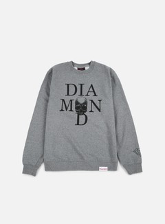 Diamond Supply - Skull Crewneck, Gunmetal Heather 1