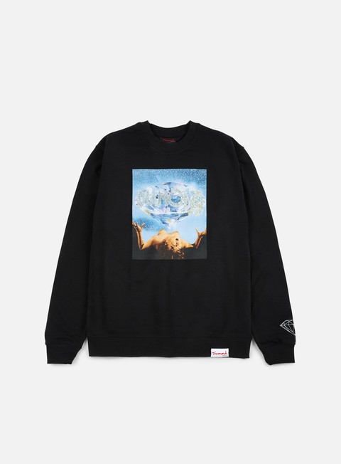 felpe diamond supply take them crewneck black