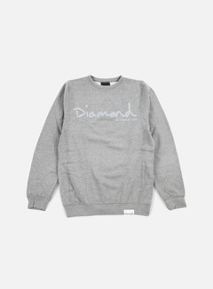 Diamond Supply - Tonal Og Script Crewneck, Gunmetal 1