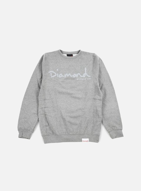 felpe diamond supply tonal og script crewneck gunmetal