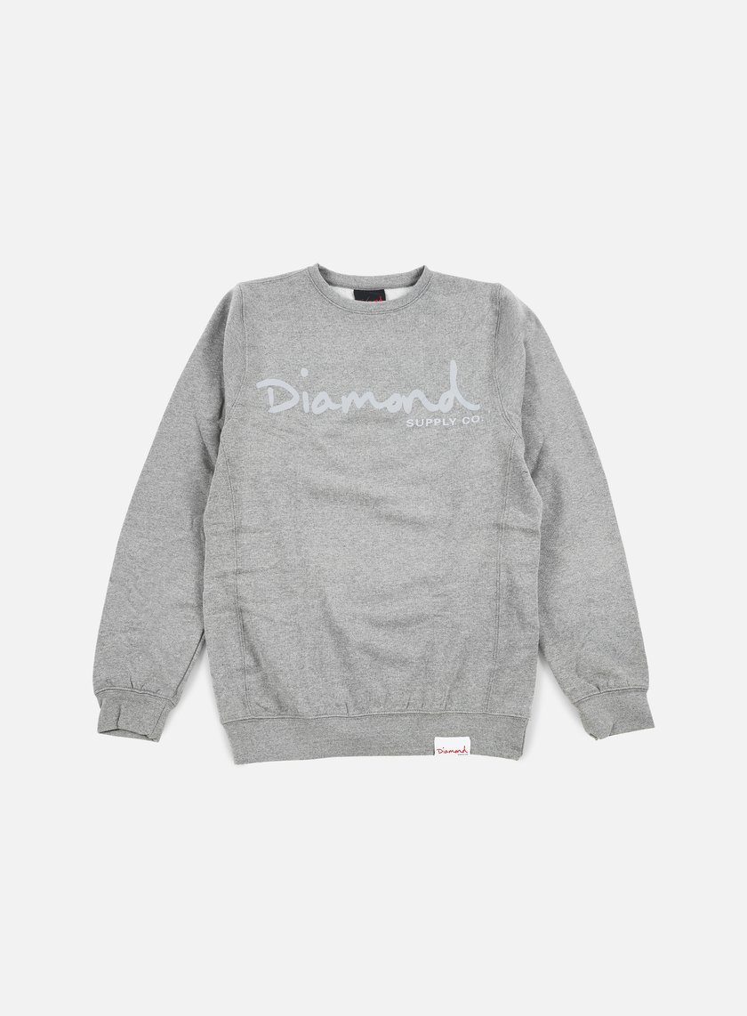 Diamond Supply - Tonal Og Script Crewneck, Gunmetal