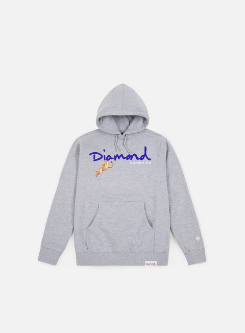 felpe diamond supply trinity hoodie heather grey