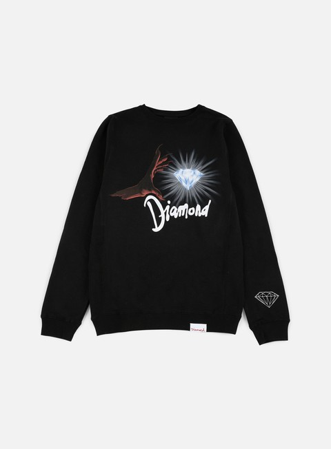 felpe diamond supply underworld crewneck black red