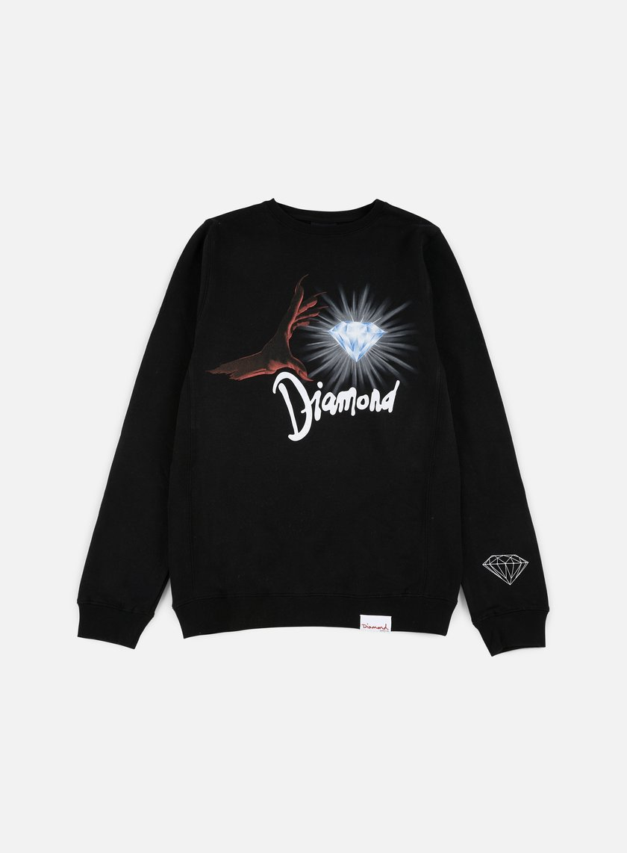 Diamond Supply - Underworld Crewneck, Black/Red