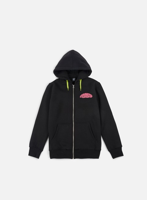felpe doomsday acid shark zip hoody black