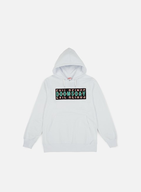 felpe doomsday advert hoodie white