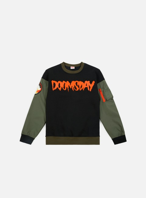 felpe doomsday atom crewneck army green