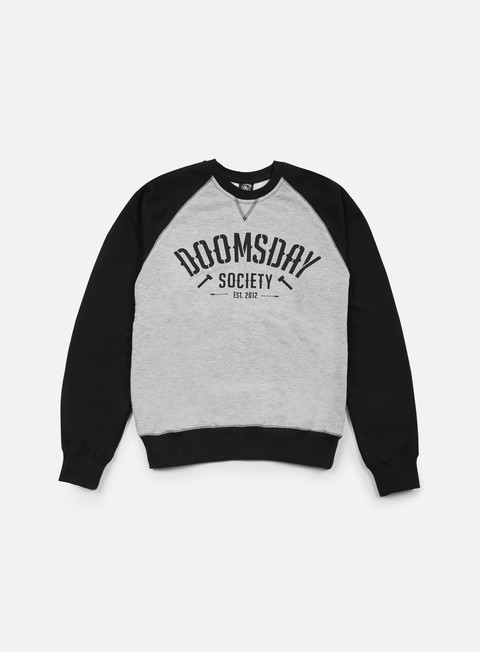 felpe doomsday built to destroy crewneck black sport grey
