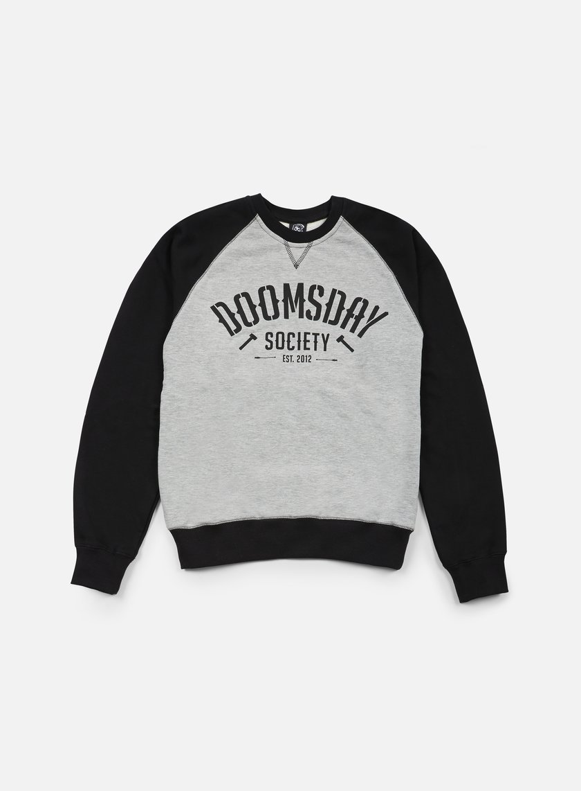 Doomsday - Built To Destroy Crewneck, Black/Sport Grey