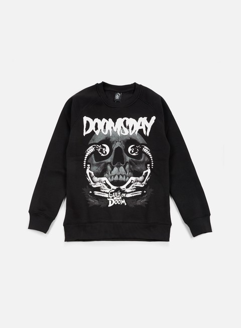 felpe doomsday cult of doom crewneck black