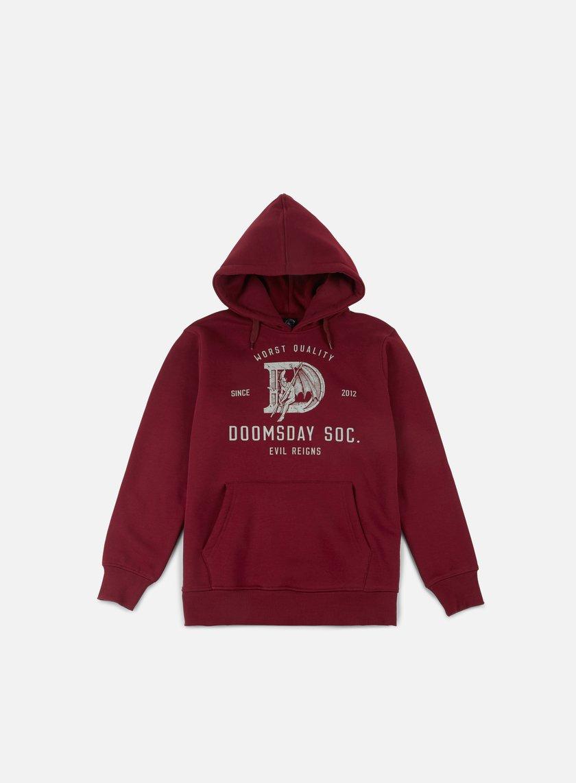 Doomsday - D As Devil Hoody, Burgundy