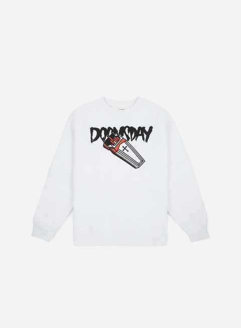 felpe doomsday deadpack crewneck white