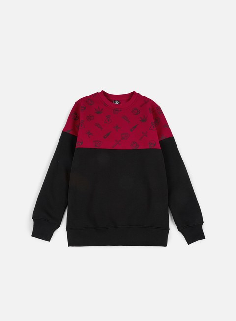 felpe doomsday fillers crewneck red black