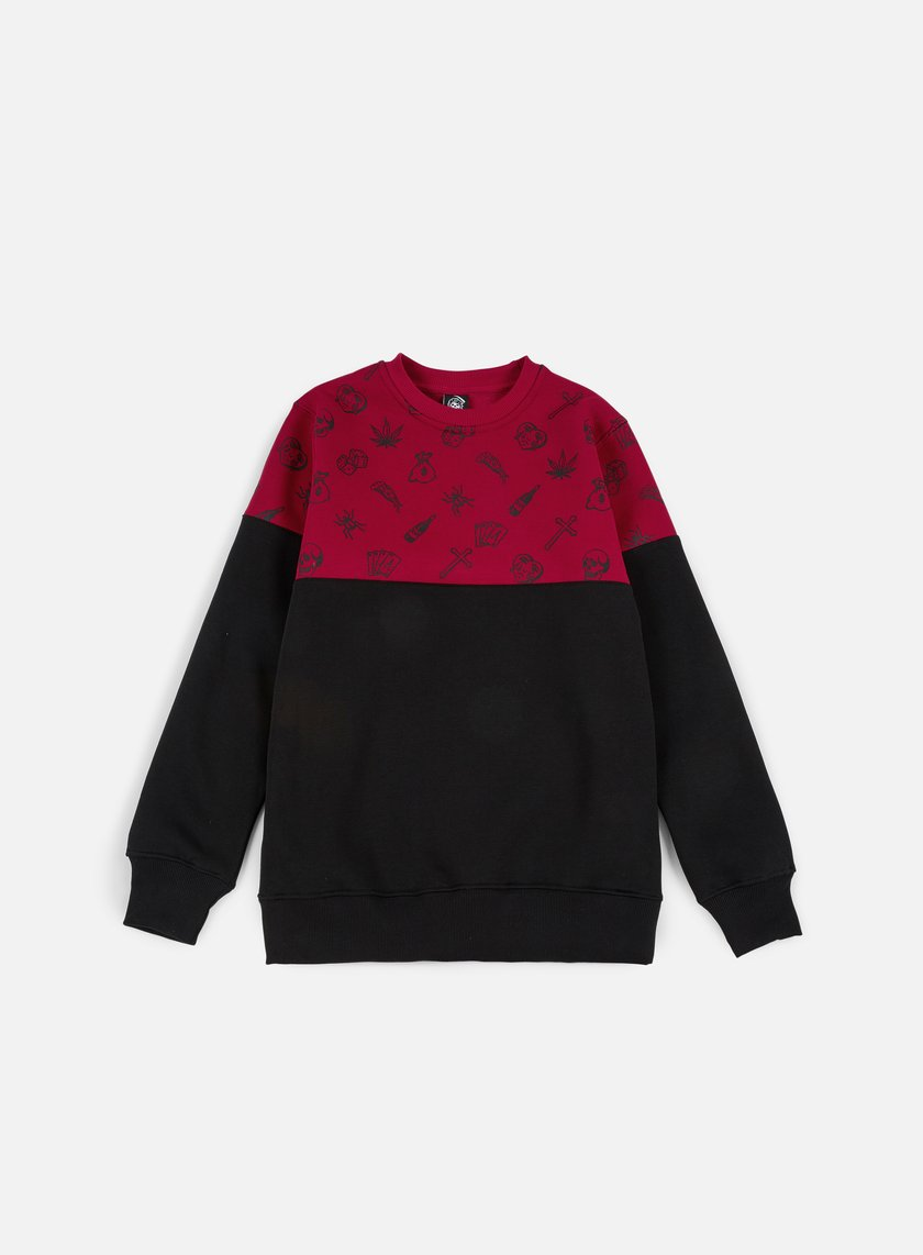 Doomsday - Fillers Crewneck, Red/Black