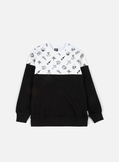 Doomsday - Fillers Crewneck, White/Black