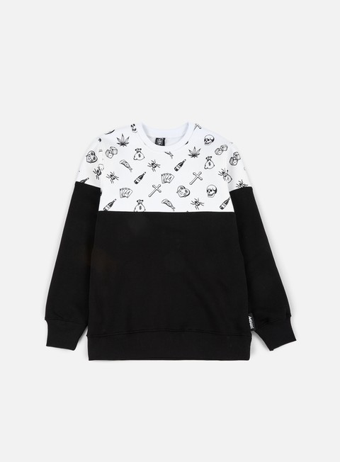 felpe doomsday fillers crewneck white black
