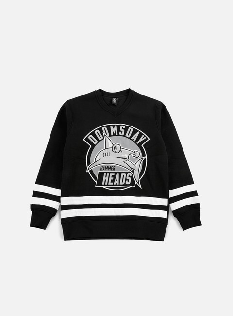 felpe doomsday hammer heads hockey team crewneck black