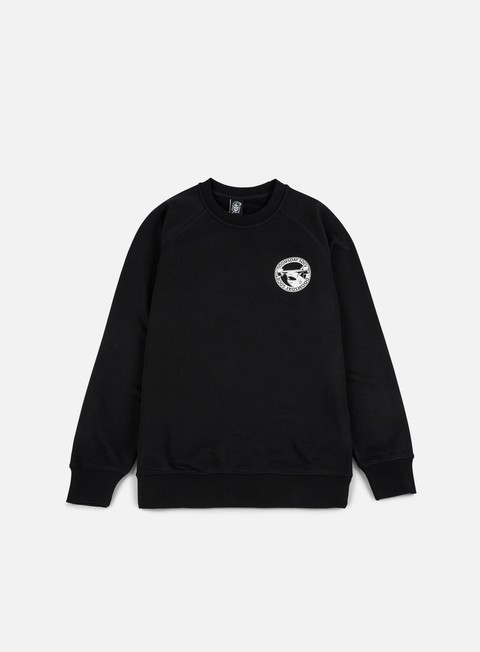 felpe doomsday hammerhead crewneck black white