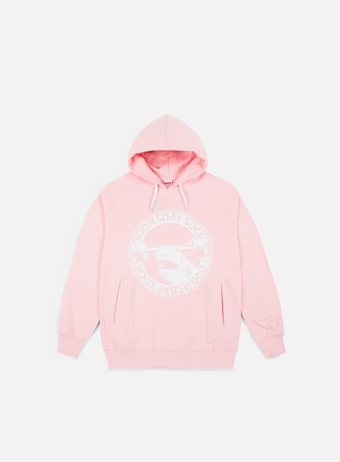 felpe doomsday hammerhead hoodie pink soft brushed