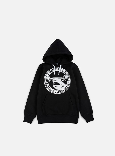 felpe doomsday hammerhead hoody black white string