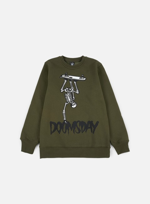 Crewneck Sweatshirts Doomsday Hand Plant Creweck