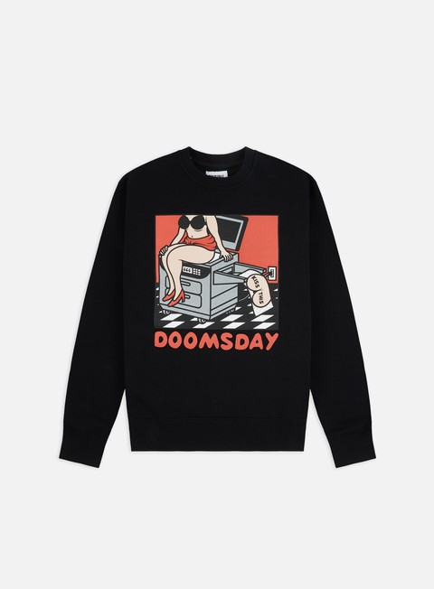 Outlet e Saldi Felpe Girocollo Doomsday Kiss This Crewneck