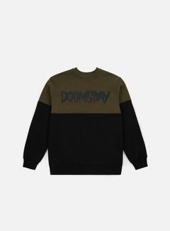 Doomsday - Logo 2 Tone Crewneck, Army Green/Black