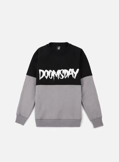 Doomsday - Logo 2 Tone Crewneck, Black/Dark Grey