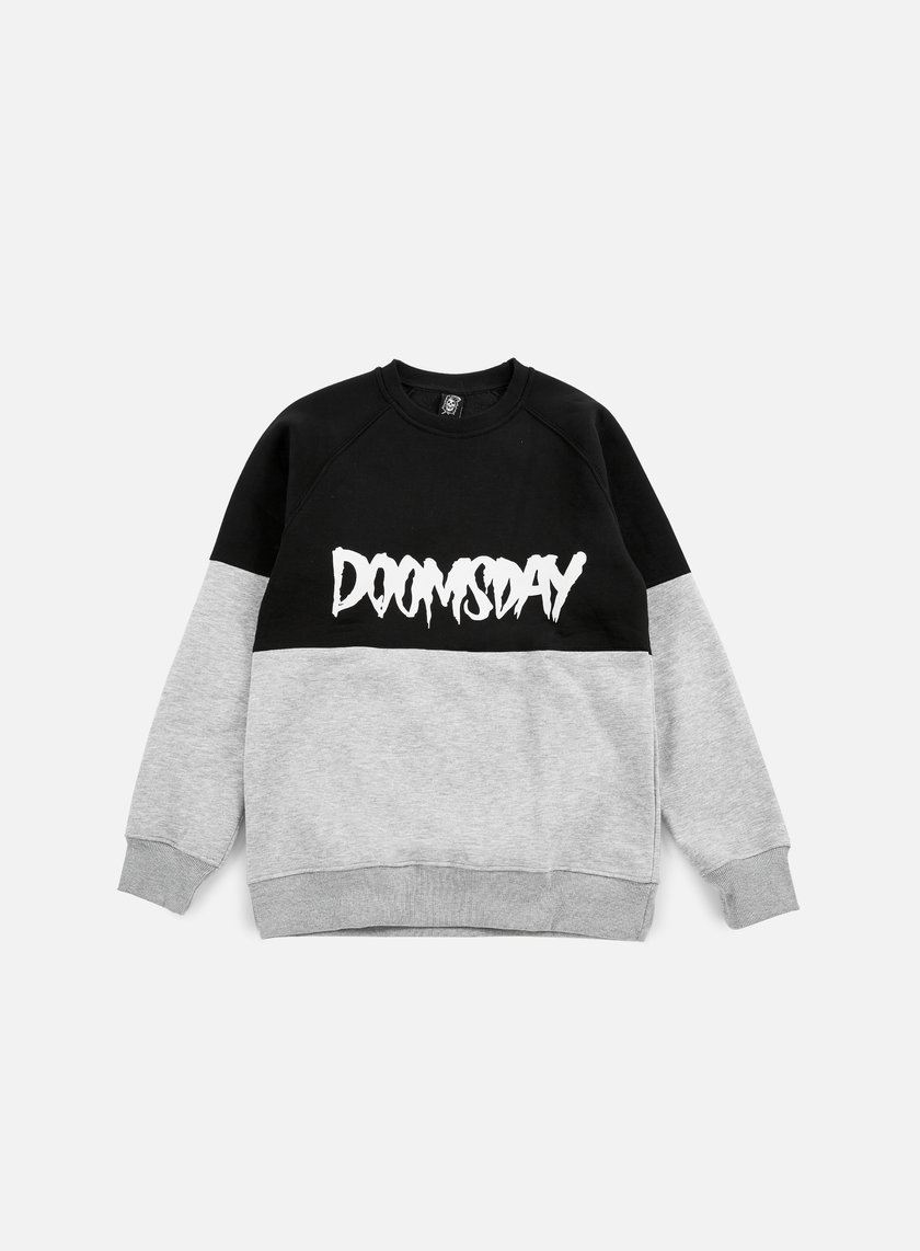 Doomsday - Logo 2 Tone Crewneck, Black/Grey