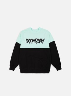Doomsday - Logo 2 Tone Crewneck, Black/Mint/Soft Brushed