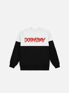 Doomsday - Logo 2 Tone Crewneck, White/Black