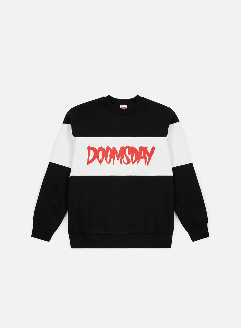 Doomsday - Logo 3 Tone Crewneck, Black/White