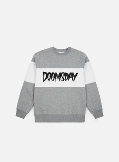 Doomsday - Logo 3 Tone Crewneck, Sport Grey/White