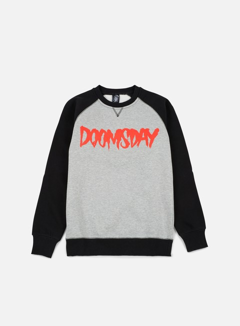 felpe doomsday logo crewneck black sport grey red