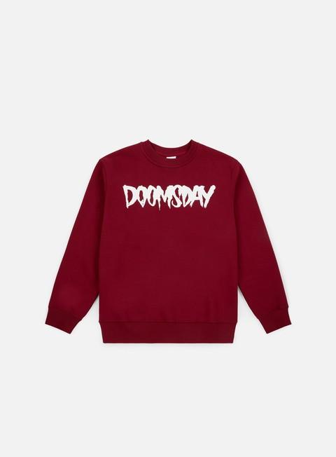 felpe doomsday logo crewneck burgundy