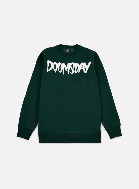 felpe doomsday logo crewneck green forest