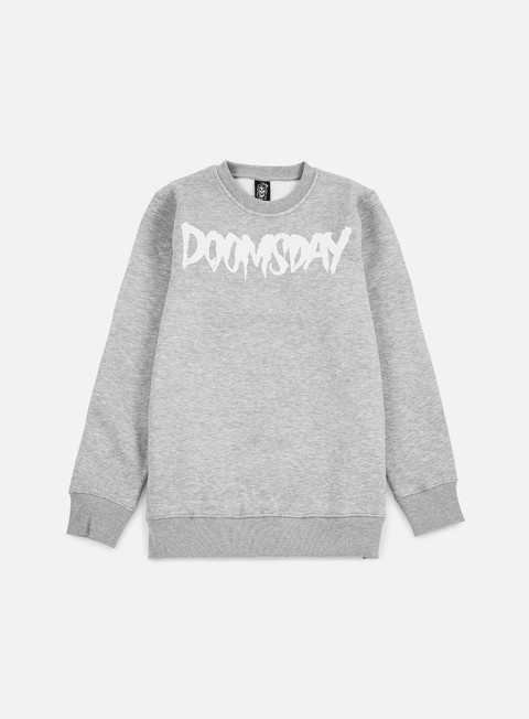 felpe doomsday logo crewneck grey