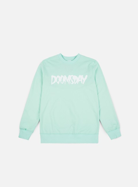 felpe doomsday logo crewneck mint
