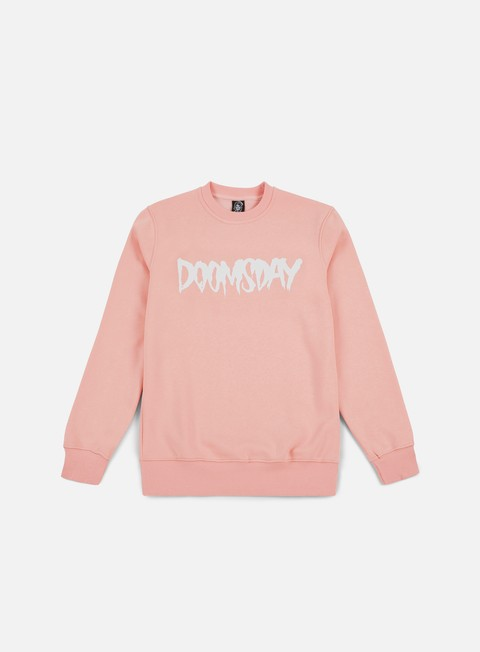 felpe doomsday logo crewneck soft pink