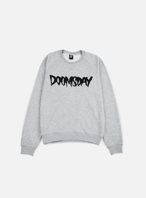 felpe doomsday logo crewneck sport grey black