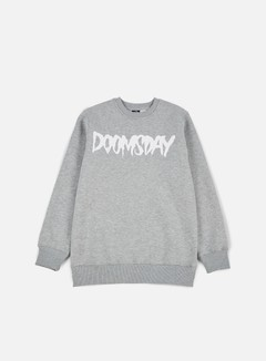 Doomsday - Logo Crewneck, Sport Grey/White