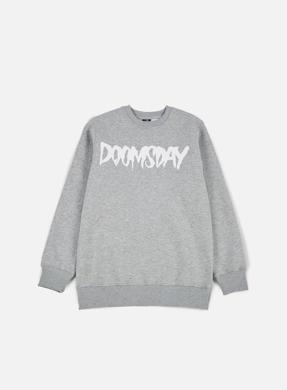Doomsday - Logo Crewneck, Sport Grey/White
