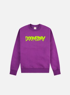 Doomsday - Logo Crewneck, Wine/Neon