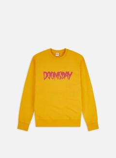 Doomsday - Logo Crewneck, Yellow/Fuchsia