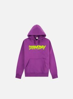 Doomsday - Logo Hoodie, Wine/Neon